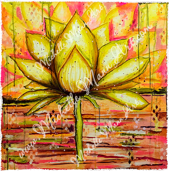 Gold Lotus by Michelle Mann copyright Michelle Mann 2017 all rights reserved