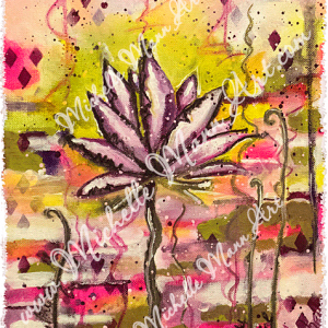 Pink Lotus by Michelle Mann copyright Michelle Mann 2017 all rights reserved