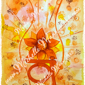 Sacral Chakra by Michelle Mann copyright Michelle Mann 2017 all rights reserved