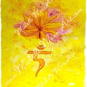 Solar Plexus Chakra by Michelle Mann copyright Michelle Mann 2017 all rights reserved