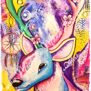 Spirit Deer by Michelle Mann copyright Michelle Mann 2017 all rights reserved